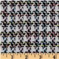 Wool Blend Coating Houndstooth Black/Multi