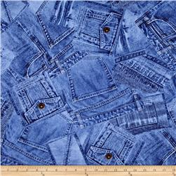 Timeless Treasures Denim Blue Jeans Blue