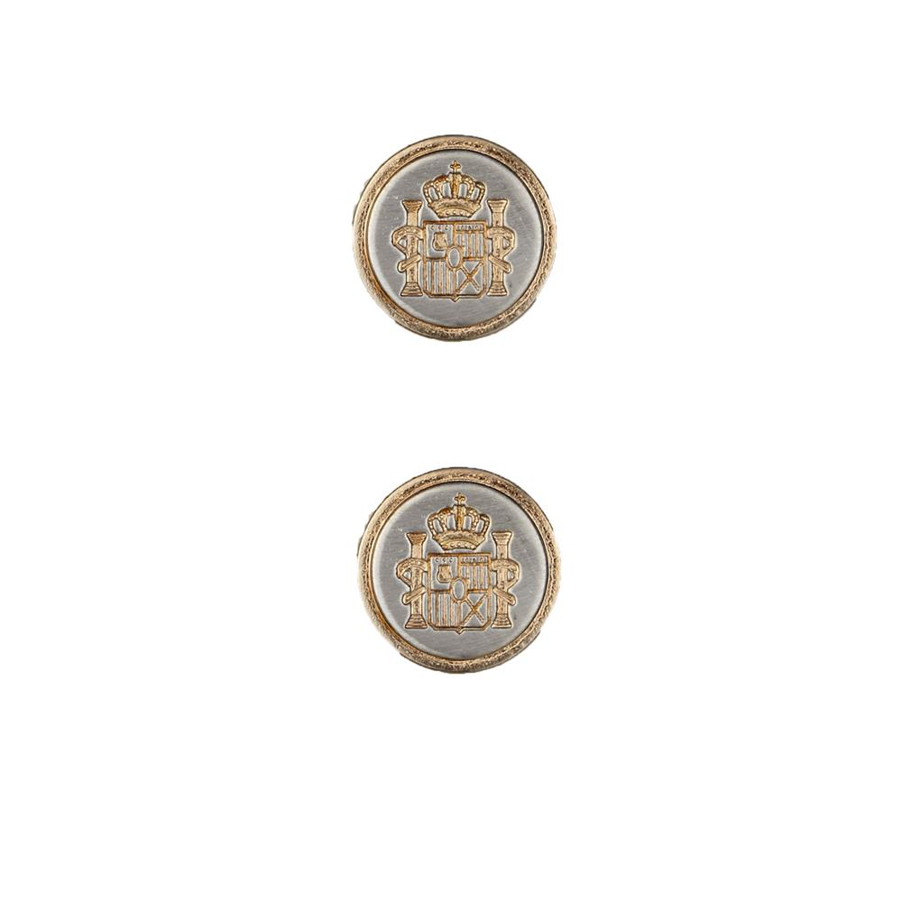 Dill Buttons 3/4'' Full Metal Button Gold