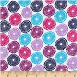0291837 Punch Garden Flannel Mod Circles Bright Purple