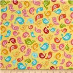 205445 Riley Blake Hello Sunshine Birds Yellow
