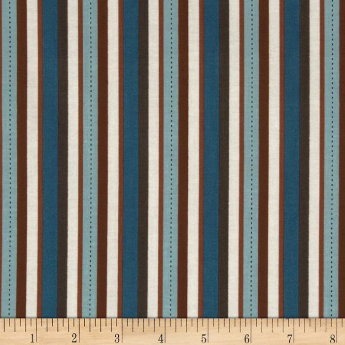 Riley Blake Pirate Matey&#39;s Pirate Stripes Brown