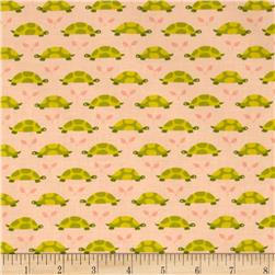 Michael Miller Les Amis Turtle Parade Tonal Turtles Peach