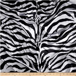 Satin Charmeuse Zebra White/Black