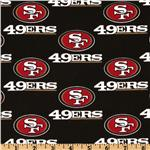 CK-194 NFL Cotton Broadcloth San Francisco 49ers Black/Red