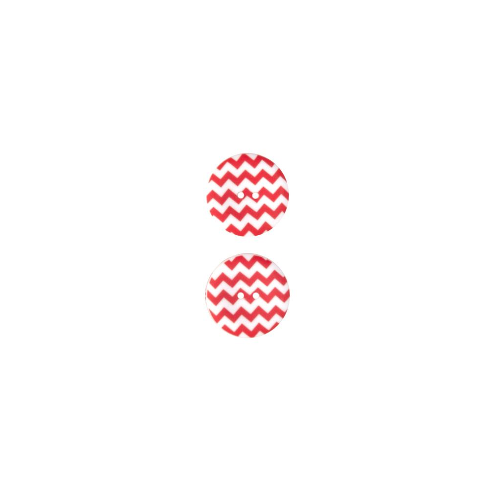 Riley Blake Sew Together 1 1/2 Matte Button Chevron Red
