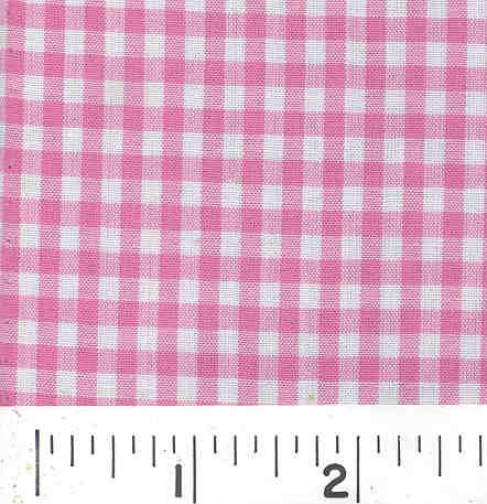 Woven 1/8 Gingham Pink
