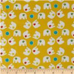 207487 Savanna Bop Flannel Elephants Yellow
