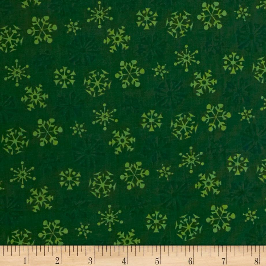 Not Even A Mouse Snowflakes Dark Green