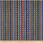 0296316 Kaffe Fassett April 13 Collection Ribbon Stripe Smoky Blue