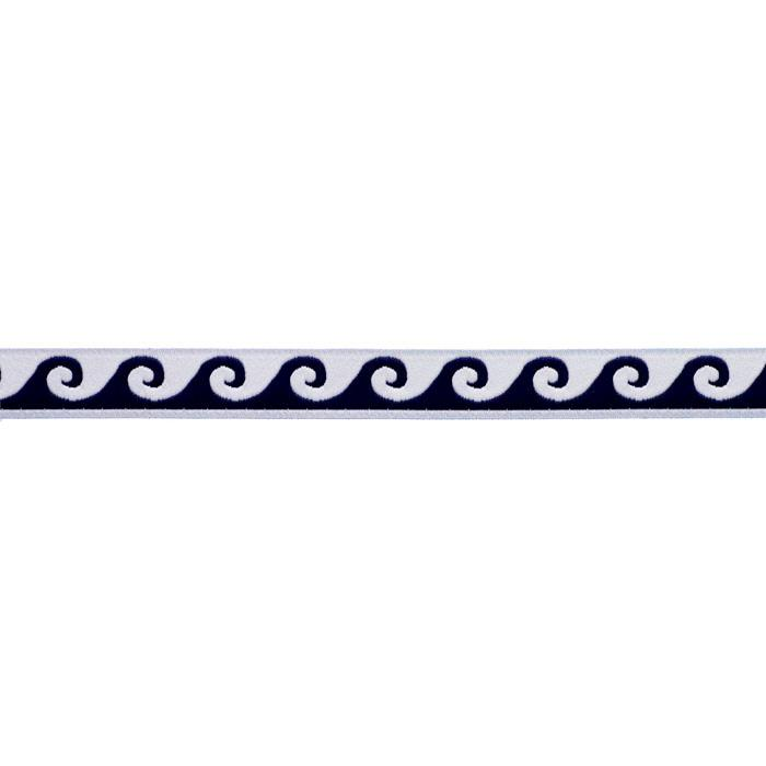 5/8&#39;&#39; Ribbon Wave White/Navy