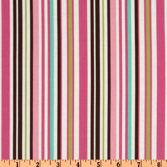 Crazy for Dots &amp; Stripes Pink/Brown/White