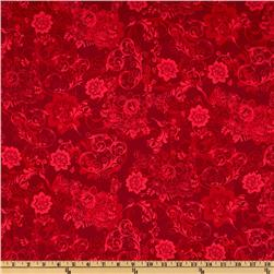 Phantom of the Opera Masquerade Floral Tones Red