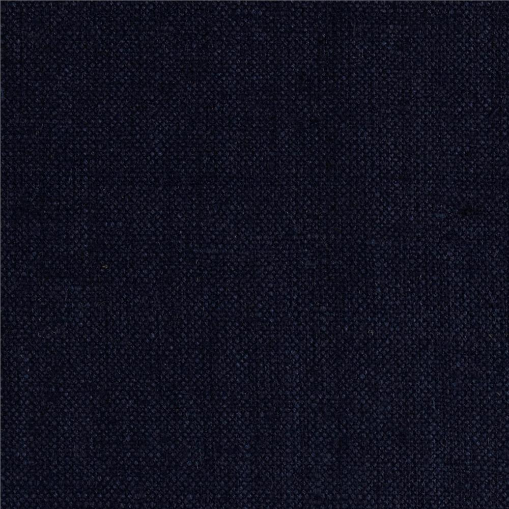 Raw Silk Suiting Dark Blue