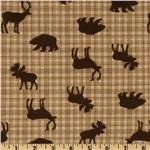 Comfy Flannel Wildlife Plaid Brown