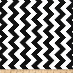 Riley Blake Laminate Medium Chevron Black
