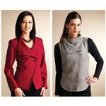 KP-3827 Kwik Sew Misses Angled Front Jacket &amp; Vest Pattern