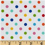 0268096 Brights &amp; Pastels Basics Dots White