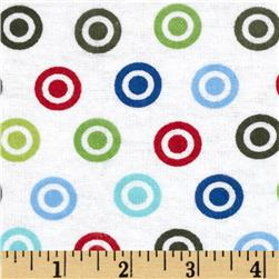 Alpine Flannel Basics Circle Dots Multi/Primary