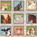 Farm Animal Labels Multi