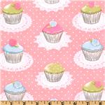 Michael Miller It's A Girl Thing Quaint Cupcakes Pink
