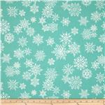 0286220 Where's Rudolph? Snowflake Dark Aqua