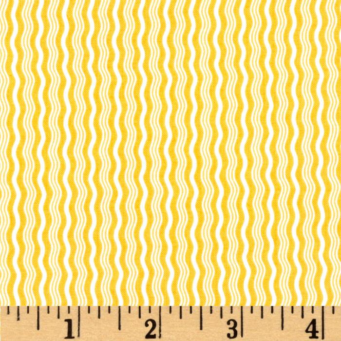 Riley Blake Hipster Crimp Stripe Yellow