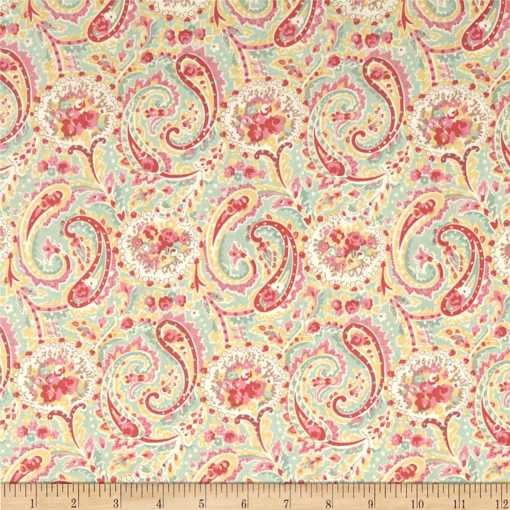 Love and Liberty Paisley Aqua
