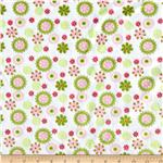 0283915 Minky Cuddle Daisy&#39;s Pink/Green