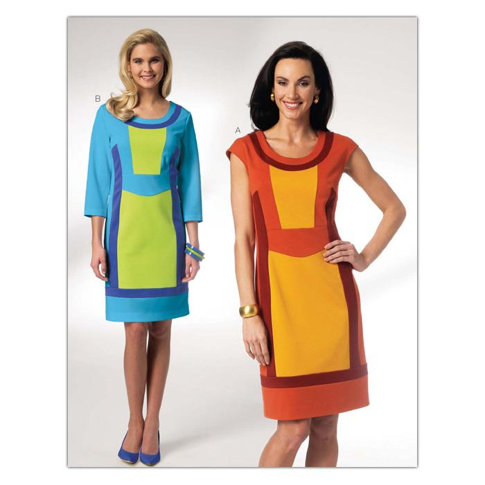 Kwik Sew Misses' Colorblock Knit Dress Pattern