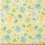 EG-673 Bitty Baby Flannel Flannel Tossed Toys Green