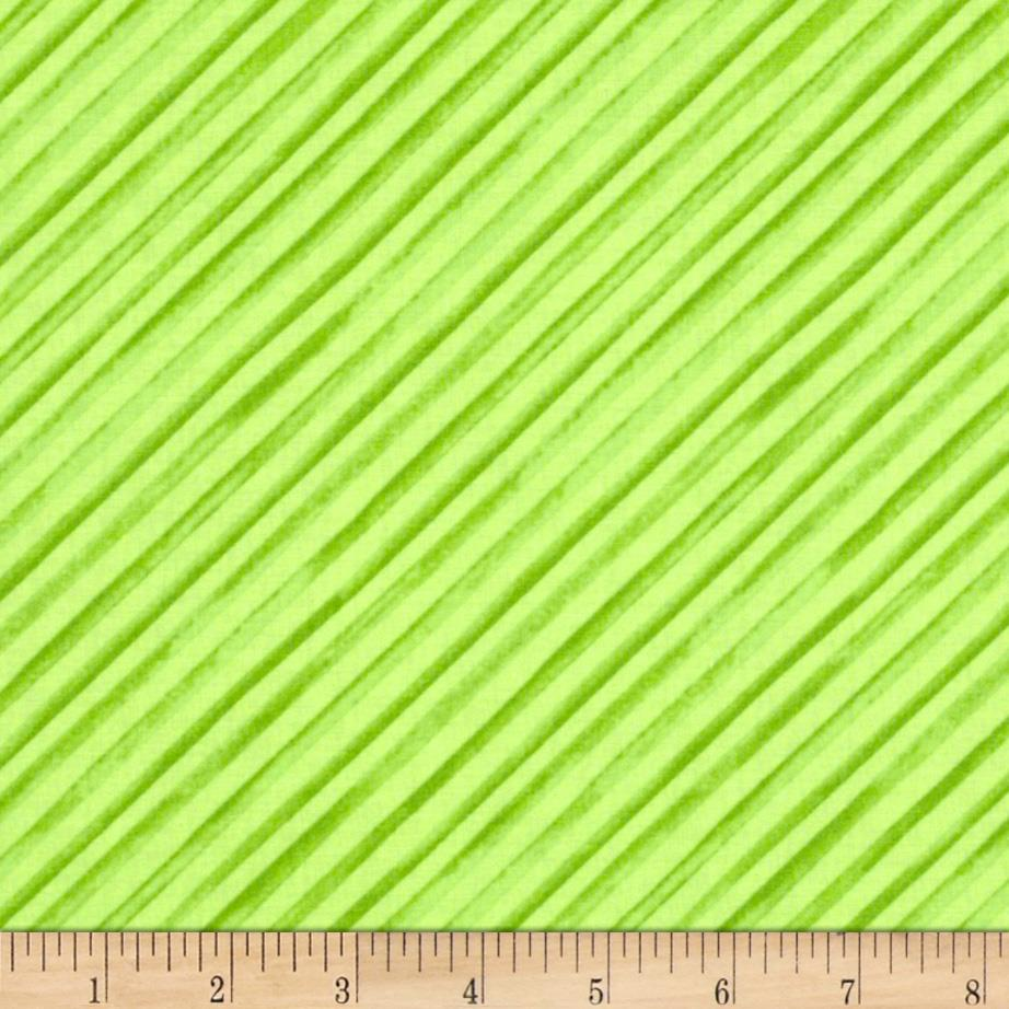 Windham Chloe Diagonal Stripes Green