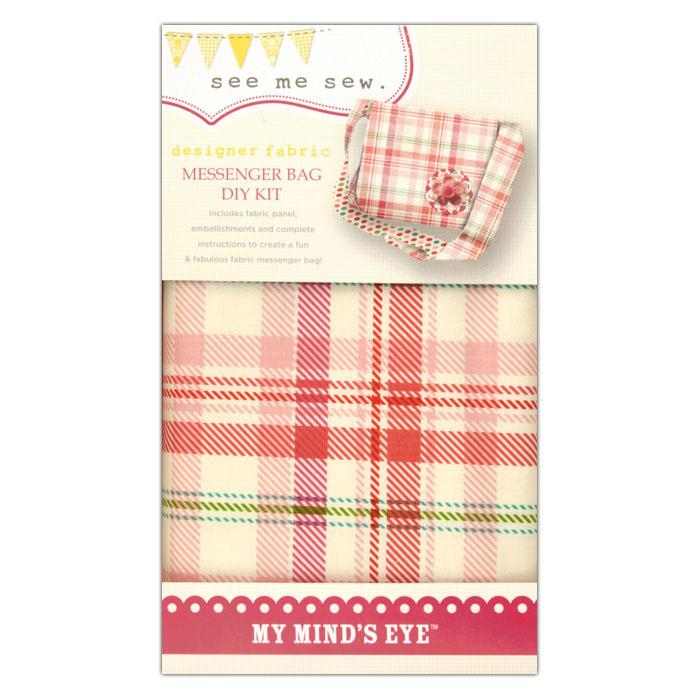 My Mind's Eye See Me Sew Messenger Bay DIY Kit Pink
