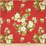 0276841 Waverly Primrose Patio Twill Watermelon