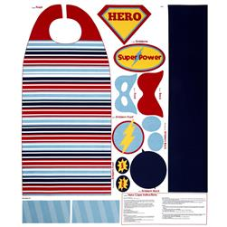Riley Blake Super Hero Cape Panel Blue