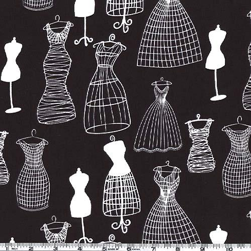 Michael Miller Dress Forms Black &amp; White