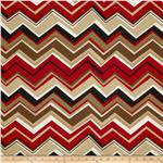 Tempo Indoor/Outdoor Chevron Black/Red
