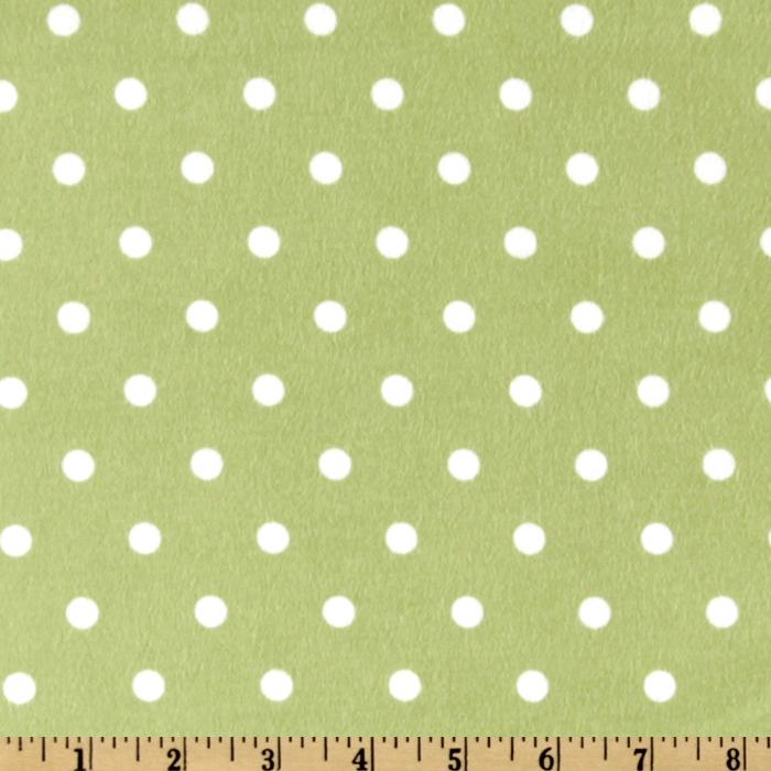 Cozy Cotton Flannel Polka Dot Pistachio