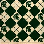 BN-705 Collegiate Fleece Michigan State Argyle