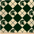 Collegiate Fleece Michigan State Argyle