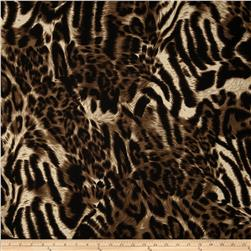 Stretch Jersey Knit Animal Skins Black/Tan
