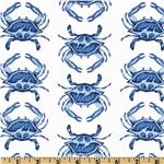 EO-176 Michael Miller Going Coastal Collection Crab Walk Blue