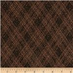 Designer Boucle Knit Plaid Brown/Black