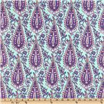 CO-234 Amy Butler Love Flannel Cypress Paisley Mint