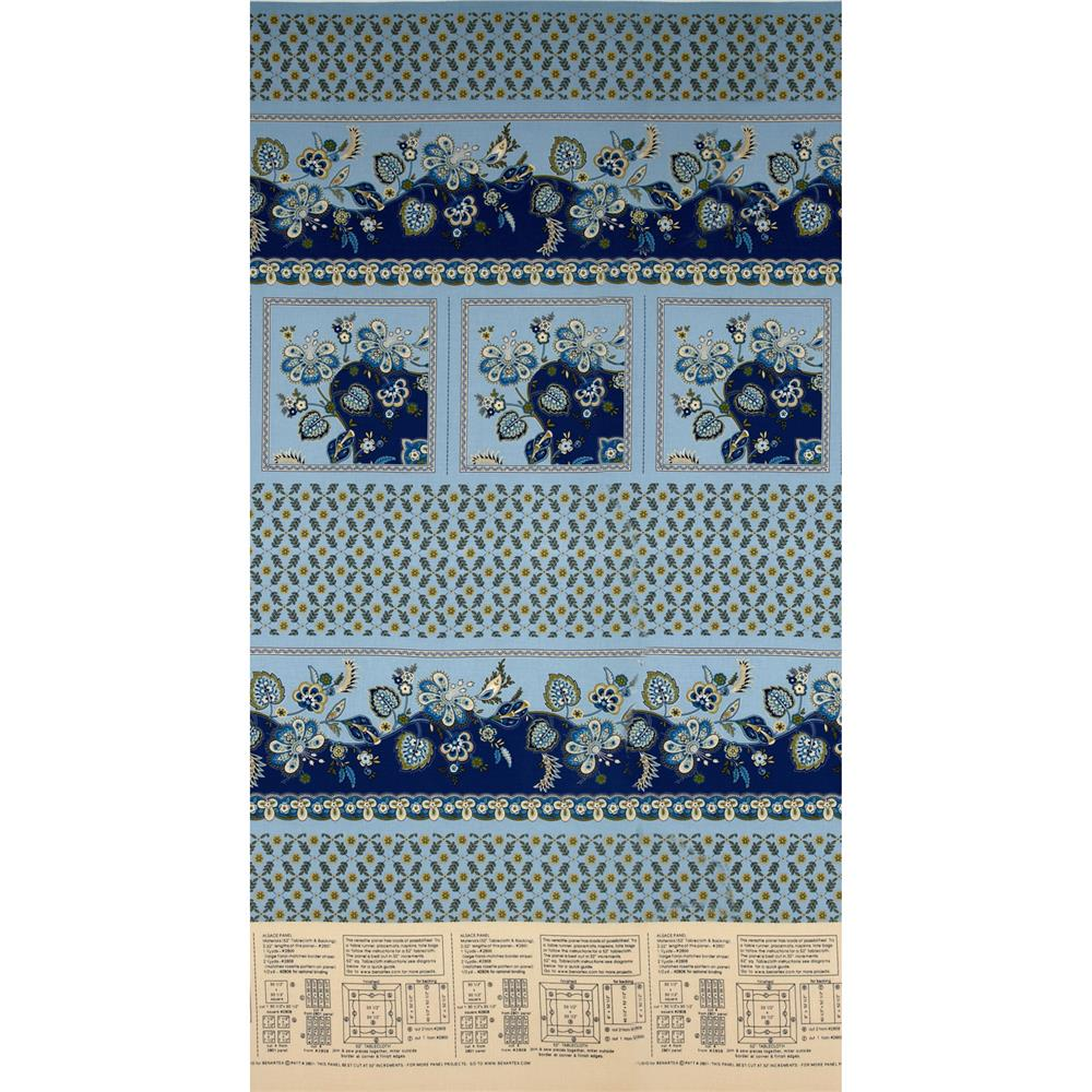 Alsace Tablecloth Panel Blue