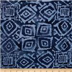 0269797 Indian Batik Block Patch Blue