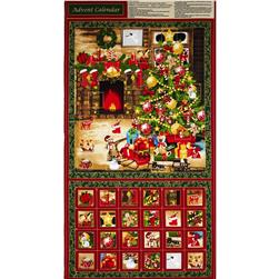 Season's Greetings Advent Calendar Tree Panel