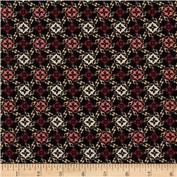 Aubrey Medallion Floral Black