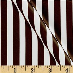 Satin Charmeuse Stripe Brown