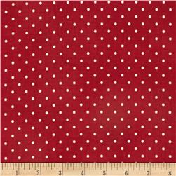 Home Essentials Dots Red/Cream